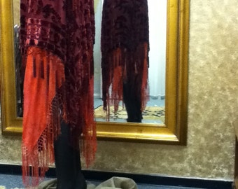 Burnout Velvet Silk Scarf Skirt