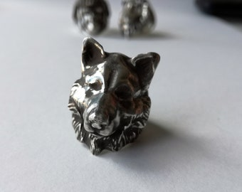 Wolf Ring in Silver