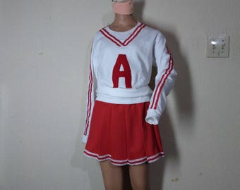 Christmas Revenge of Nerds Kids Adult Sweatshirt Skirt Red Cheerleader Uniform Football Game Halloween Costume