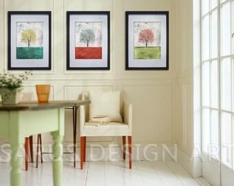 Color Tree Series -- Set of Three -- 8x10