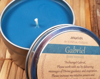 Gabriel Angel Candle Call Upon Archangel Gabriel for Guidance, Angel Gabriel, Archangels Angels Angel Messages, Talk to Angels, Angel Guides