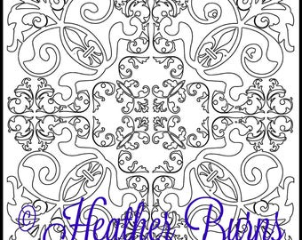 Coloring Page/Celtic Coloring/Adult Coloring/Colouring Page