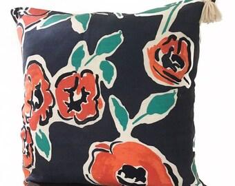 "Boho Floral Spring Pillow Cover 20x20"""