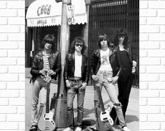 The Ramones - CBGB - OMFUG - Photo - 1970s - Punk Rock - Punk Scene - Rad - Rock n Roll - Hall of Fame - Man Cave - Ska - Legends - Wall Art
