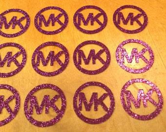 MK Glitter Cupcake Toppers