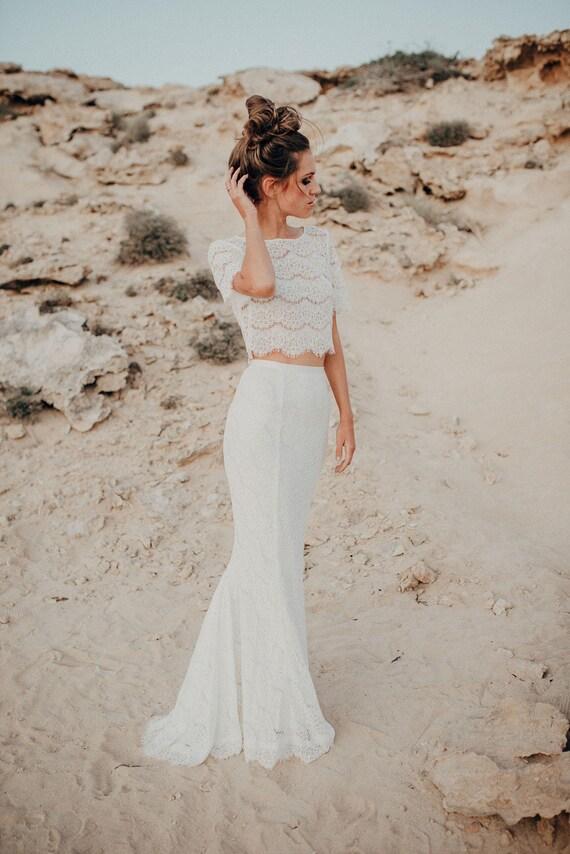 Bridal Separates Wedding Separates Two Piece Wedding Dress