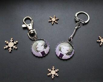 Keychain or handbag Manga girl purple