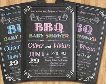 daddy bbq baby shower invitations