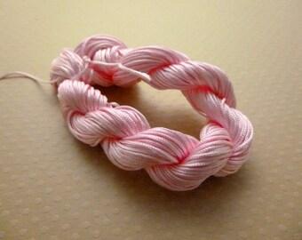 DESTASH! Approximately 26 m 1 mm - B640 pink nylon thread