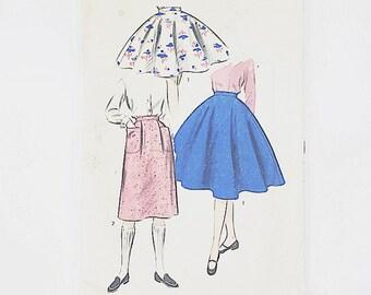 50s Circle Skirt Pattern   Advance 6968 Girls Skirt Pattern   50s Sewing Pattern