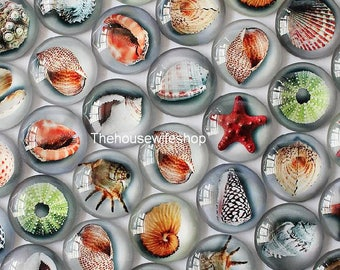 20mm and 12mm Mixed Style Halobios Round Glass Cabochon Dome Jewelry Finding Cameo Pendant Settings