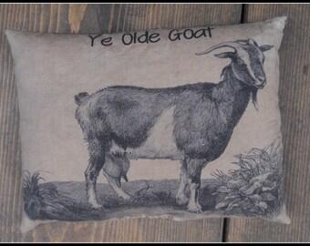 Olde Goat Feedsack Pillow