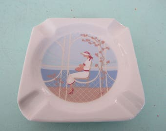 Vintage Limoges Pate Porcelain Ashtray Free Shipping