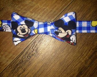 Bow tie add Suspender set in this Mickey classic Boys print/Mickey Mouse/Disney/Perfect Disney Cruise Disney World/Great for birthday outfit