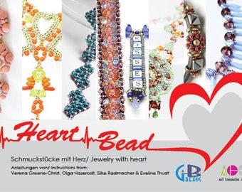 "Buch ""Heart Bead – Schmuckstücke mit Herz"", 8 Anleitungen, Perlenfädeln, DIY, Selbermachen, Tutorials, Pattern, bead weaving,german,english"