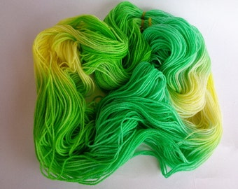 Hand Dyed Yarn, Cool As A Cucumber - SW Merino/Nylon Fingering Wt.