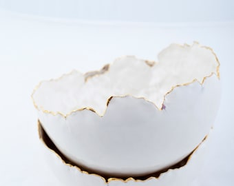 Porcelain and gold bowl, limited edition