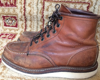 Red Wing 100 Year Anniversary USA Made 1905 Mens Leather Short Boots 8.5 D