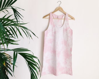 Pink Cotton Candy - Hand Dyed Tank Dress Studio Sale