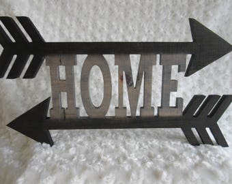 Home with Arrows Cutout Wall Art Home Decor Sign