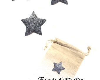 3 iron-on stars (5 cm diameter) to iron to personalize, customize a garment or accessory.