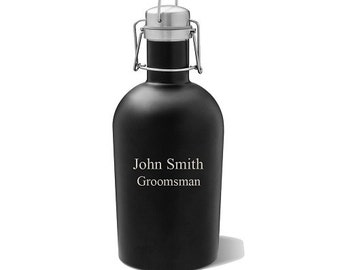Groomsmen Gift - Growler - Growler Gift - Personalized Growler - Stainless Growler - Barware - Christmas Gift - Father of the Bride
