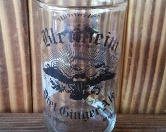 YAVA Glass - Upcycled Blenheim Diet Ginger Ale Soda Bottle Glass