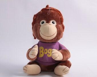 Shirt Tales Plush Bogey The Monkey - Great Shape! ~ Pink Room ~ 160920