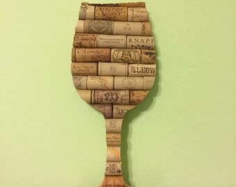 "12"" wooden wine cork wine glass"