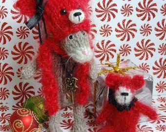 Knitted Cat & Bear