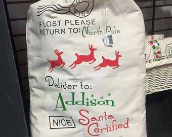 Santa Reindeer Bag