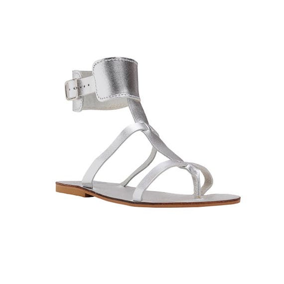 sandals roman CINTIA cuff sandals leather Greek Sandals silver sandals ankle handmade sandals sandals grecian ancient sandals thong 7X7AwO