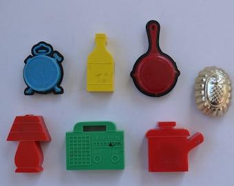 Kitchy Retro Vintage Kitchen Plastic Magnetic Magnets Lot 7