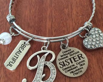 SISTER Bracelet, Sister Gifts, Sister Jewelry, Gifts For Sister, Sister Personalized Gift, Sister Gift, Sister Birthday Gift, Sissy Gifts
