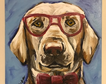 Custom Dog portrait, custom pet painting, custom pet portrait, custom dog painting, whimsical custom pet painting, custom pet portrait