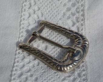 Boucle de ceinture en métal couleur argenté pour ceinture 2 cm ou 20 mm