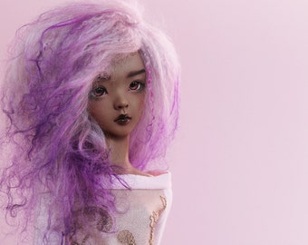 "BJD wig - Magical Purle -  6/7"" LIMITED STOCK"