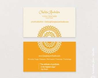 Manipura Yoga Business Card or Wellness Yoga Business Card
