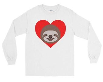 I Heart Sloth Long Sleeve T-Shirt