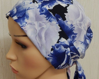 Women's chemotherapy head covering, chemo bonnet, alopecia head wear, hair loss head scarf, surgical caps, chemo head wrap bandanna