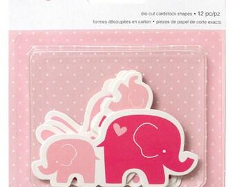 Embellissements formes découpées en carton - Lapins et éléphants