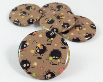 Sprites - Soot Sprite - My Neighbor Totoro - Totoro - Totoro Sprite - Spirited Away - Anime - Anime Gift - Anime Button - Studio Ghibli