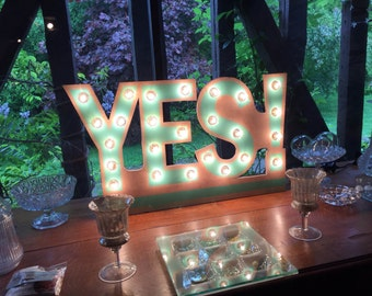 "Sign ""YES!"" Just a Spark"