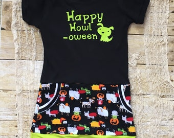 3T Halloween Dress - Girls Halloween Dress - Toddler Dress for Halloween - Halloween Girls Dress - Trick or Treat Outfit - Girls Halloween