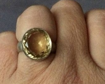 925-er silver ring with Citrine
