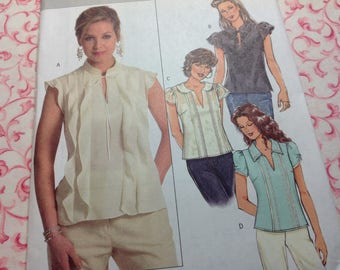Butterick Pattern 4802 - Top Pattern, Pullover Top Pattern, Easy Pattern, Sizes 14 16 18 20, Uncut Pattern