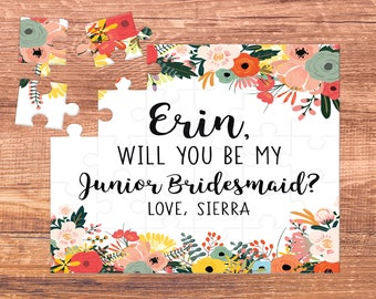junior bridesmaid / will you be my / puzzle / puzzle proposal / proposal / bridesmaid gift / will you be our / flower girl puzzle / gift