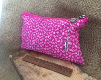 Fabric zipper pouch /cosmetic bag