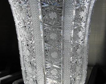 Cut Glass Crystal Vase