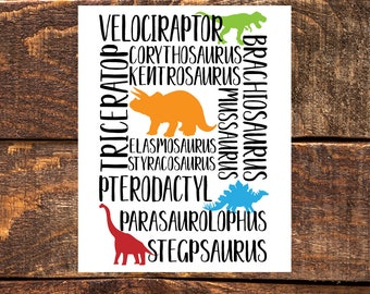 Dinosaur Subway Art- Wall Art Print, Instant Download, Printable Wall Decor